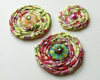 Lime Cypress Paisley - Shabby Flower Embellishments