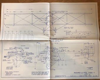 Airplane Blueprint Set - Packard- Le Pere Lusac-II