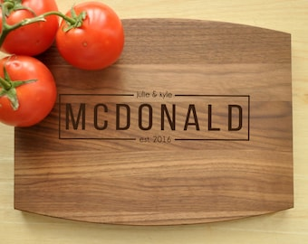 Wedding Gift, Personalized Wedding Gift, Cutting Board, Custom Cutting Board, Engraved Cutting Board, Personalized Cutting Board, Realtor