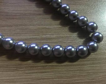 set of 15 10 mm Pearl glass beads