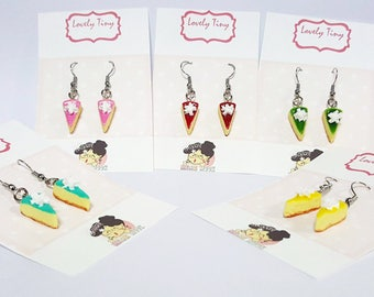 A pair of 7 Days Cheese Cakes Earrings, choose 1 color from 7 colors