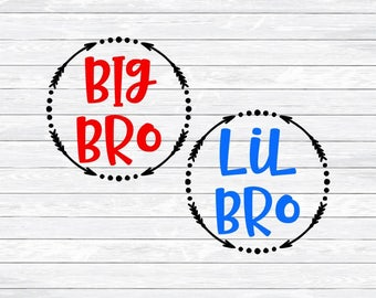 Little Brother, Big Brother, Sibling, Brothers, Svg Dxf Png, files for, Silhouette, Cricut, Shirts, Arrow Frame, Arrow Vector, Boys, bro