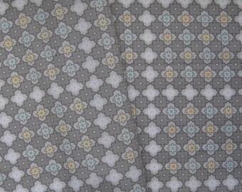 Geometric Fabric, Grey Cotton Fabric, Cotton Fat Quarter, Grey Cotton FQ, Quilting Fabric, Scandinavian Fabric, Grey And White Fabric