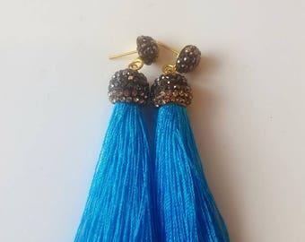 Long Drop Tassle Earrings.