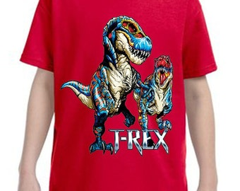 T Rex Dinosaur Graphic Tee  T shirt, Childrens Clothing, Cute Kids Tee Shirt, Dinosaur T-Shirt, Custom Graphice Tees