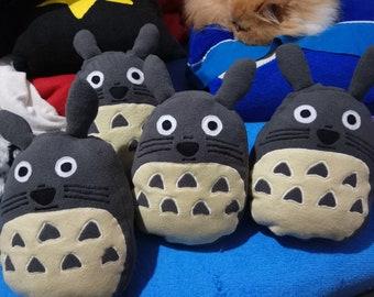 Handmade Totoro Plushie, Fantasy Plush Eco Friendly, Ready to Ship