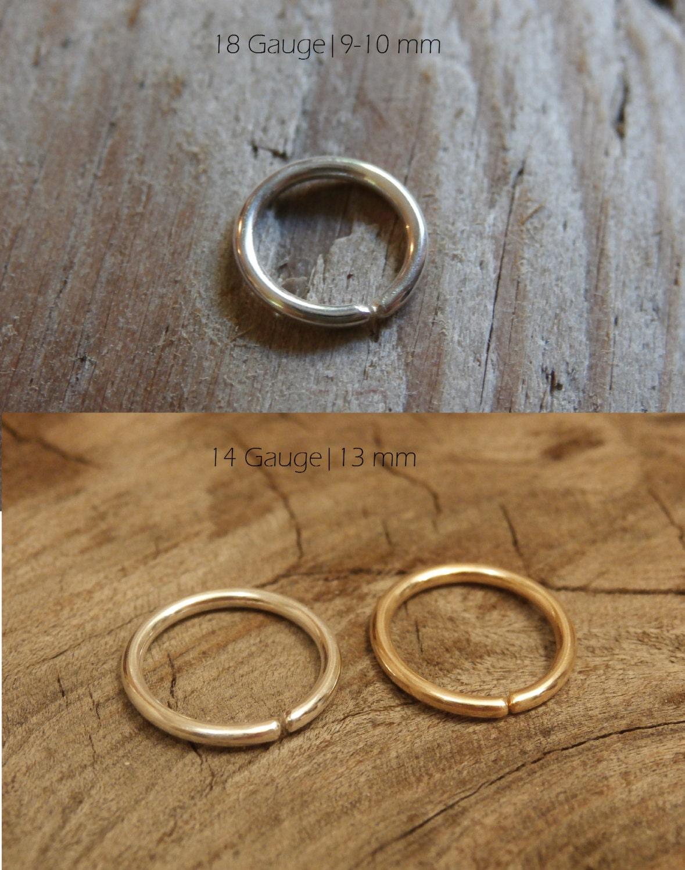Einfache Schleife Bauchnabel Ring minimale Körper Schmuck
