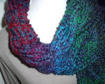 multicolored cable scarf (150, 20cm)