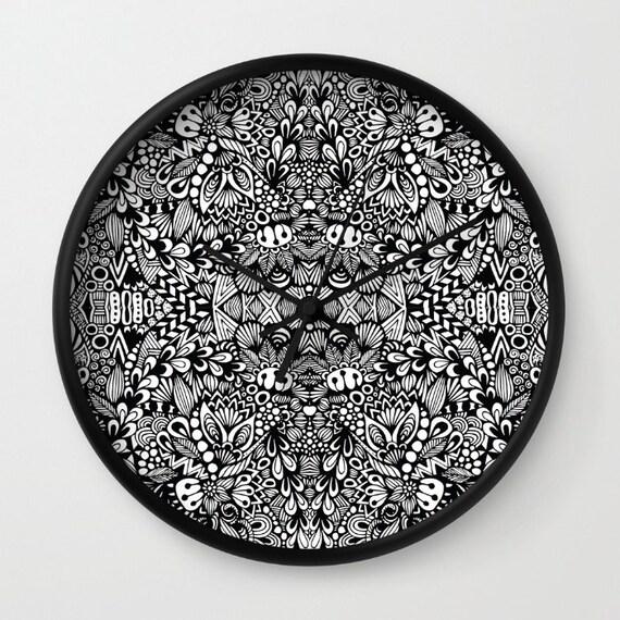 Zentangle - B&W Clock
