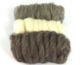 SALE!!!! Brown Blue Faced Leicester Wool Tops(Sliver)
