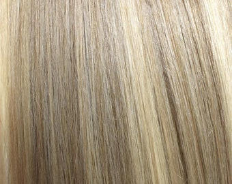 100% Human Hair Flip-in(HALO) extension Hand-made Ash Blonde Mix