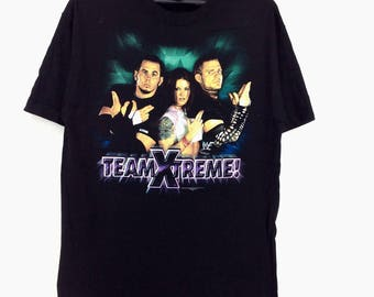 Vintage World Wrestling The Hardy Boyz / Jeff Hardy / Matt Hardy T-shirt 5rqem