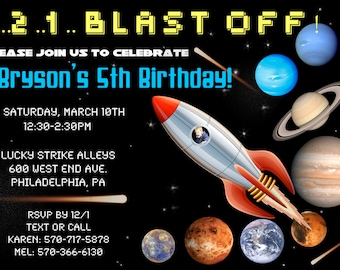Outerspace Invitation
