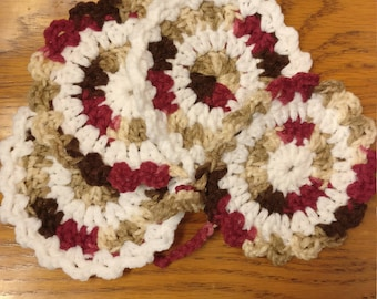 Crochet Coasters - Set of 4 in Fall Colors