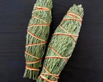 Two Western Red Cedar Smudge Sticks - 4 to 5 Inches