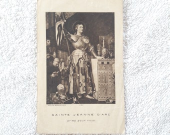 Joan of Arc - Antique French Holy Card