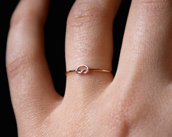 Tiny knot ring Etsy