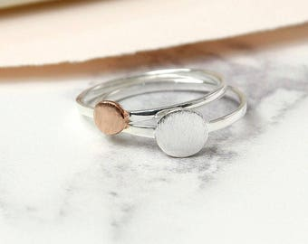 Carianne * Stacking Ring Set * Sterling Silver * Rose Gold * Stacking Jewelry * Star Ring Set * Stacking Set * Stacking Jewelry * Star Rings