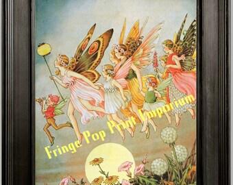 Art Nouveau Fantasy Fairies Art Print 8 x 10 - Fairy Illustration