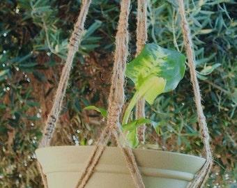 Macrame Plant Hanger Natural Jute Vintage Style 36 inch