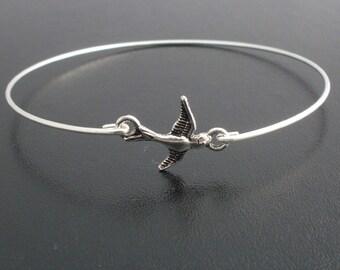 Silver Bird Bracelet, Flying Bird Bangle Bracelet, Flying Bird Bracelet, Flying Bird Jewelry, Silver Bird Jewelry
