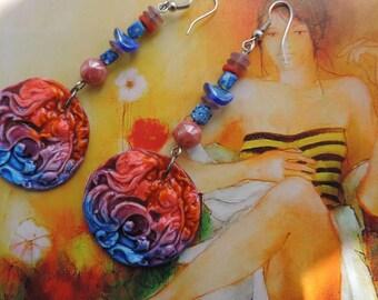 """Art Deco earrings """"Spring in Paris"""""""
