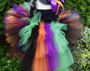 Bustle Tutu, Witch Bustle Tutu, Halloween Costume, Witch Costume, Girls Halloween Costume, Toddler Witch Costume, Witch Tutu Costume, Fall