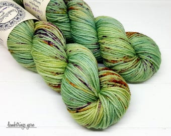 Ewetopia Worsted, Hand dyed yarn, Superwash Merino Wool, 218 yds/ 100g: Garden Gate.