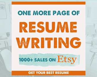 One additional page of resume writing