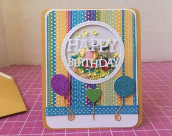 Co-Worker Happy Birthday Balloon Shaker Card HB05