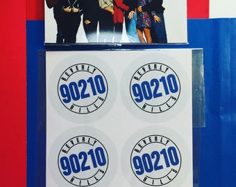 Beverly Hills 90210 Stickers & Magnet (Set)