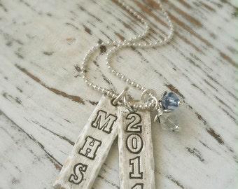 Graduation Necklace . Grad Jewelry . Grad Year Necklace . Graduation Jewelry . Personalized Grad . Gift For Grads