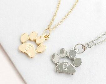 Animal Paw Print Necklace