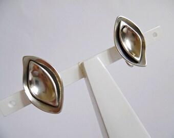 SWEDEN Wahlström Ab Konrad . MInimalist Modernist Sterling Silver 925 Earrings Scandinavian Swedish 50s 1955