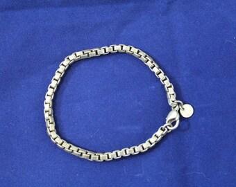 """Tiffany & Co. 925 Sterling Silver Venetian Link Bracelet 7.5"""""""