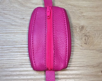 Mini wallet Fuschia goat leather