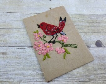 Vintage Embroidered Bird