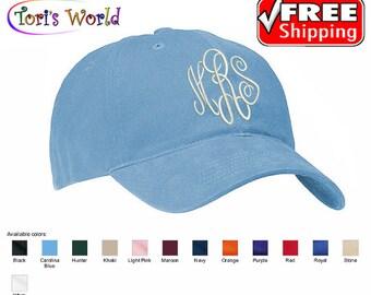 Monogrammed hat, Monogrammed baseball cap, Monogrammed Cotton Cap, Women Woman Hat, Monogram cap, Gifts for women by Tori's World
