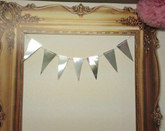 Mirror Bunting ~ weddings, parties, bridal, baby shower