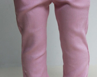 Pink Stretch Twill Skinny Jeans for 18 inch dolls