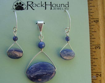 Kyanite and Sterling Silver Set