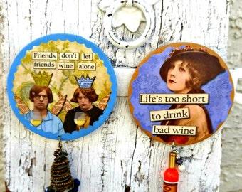 Wine Refrigerator Magnet, Funny Magnet, WiNe MagNet, Fridge MagNet, WinE Gift, WiNE Lover, Humorous MagneT