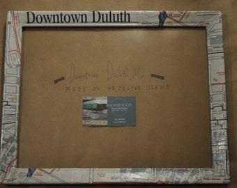 10x13 Duluth   Minnesota   Lake Superior   North Shore   Chalkboard Map Frame