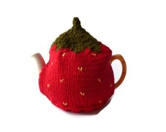 strawberry tea cozy cosie medium pot