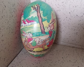 Vintage Paper Mache Easter Candy Container - Made in Korea