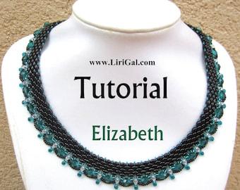 Elizabeth SuperDuo Beadwork Necklace PDF Tutorial