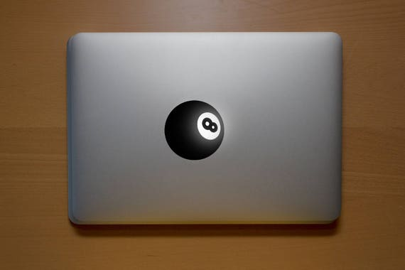 Eight-ball Pool Decal Sticker, Laptop Macbook Snooker Pool Eight Balls Game Stick Rack Pocket Cue ball, mac, Macbook Decal Sticker