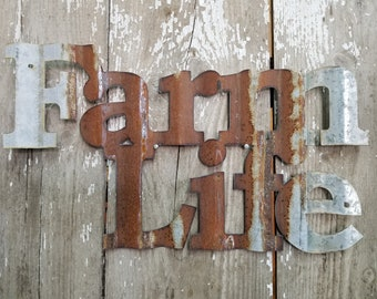 Wine or Farm Life Corrugated Sign