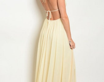 Open back Maxi w/ Sequined Top