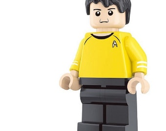Hikaru Sulu custom Star Trek Minifigure fits LEGO Starship USS Enterprise
